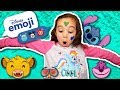 NEW DISNEY EMOJI CHAT PACKS - LEARN COLORS FOR CHILDREN WITH KIDS NURSERY RHYMES AND FACEPAINT