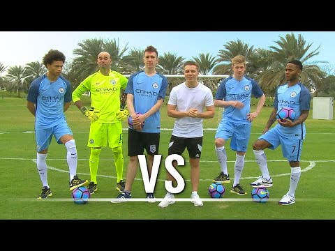 Chris VS Simon | THE SHOOT-OUT Ft. De Bruyne, Sterling, Sané & Caballero
