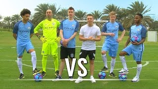 THE SHOOT-OUT Ft. De Bruyne, Sterling, Sané & Caballero | Chris VS Simon