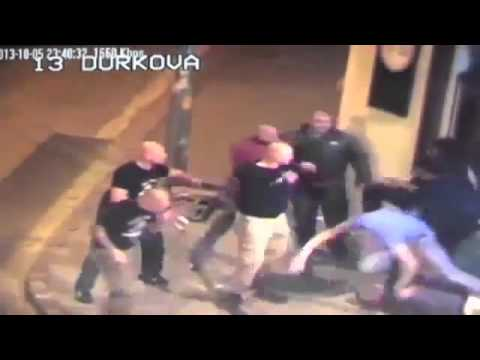 Caught On Cam Big Group Of Neo Nazi Skinheads Brutally Attack Students At A Bar!