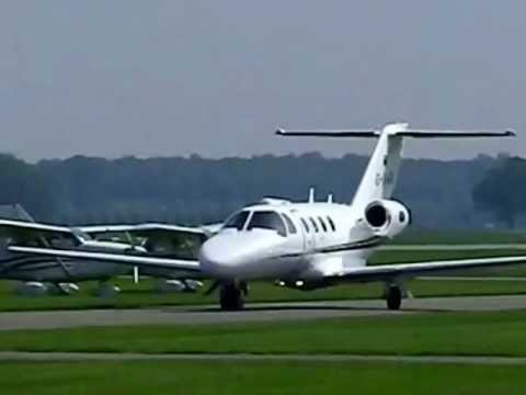 taxi departure and arrival jet d-ibwa at teuge airport mei 2012