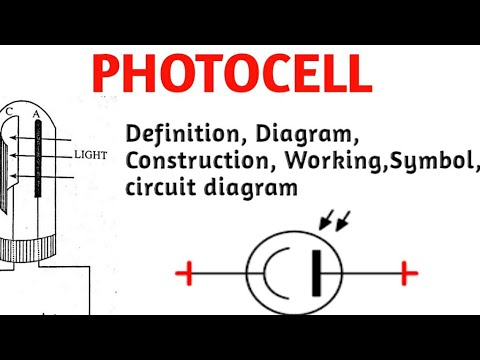 Photocell Definition Diagram Construction Working Symbol Circuit Diagram Youtube