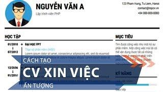 Cách tạo CV xin việc ấn tượng | VTC1