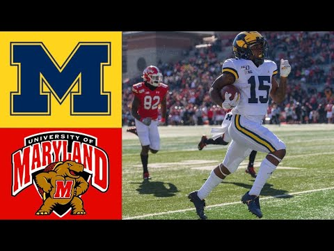 #14 Michigan vs Maryland Highlights | NCAAF Week 10 | Colleg