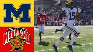 #14 Michigan vs Maryland Highlights | NCAAF Week 10 | College Football Highlights