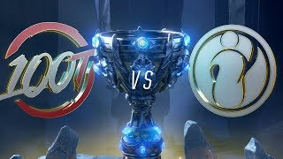 100 vs IG | Worlds Group Stage Day 8 | 100 Thieves vs Invictus Gaming (2018)