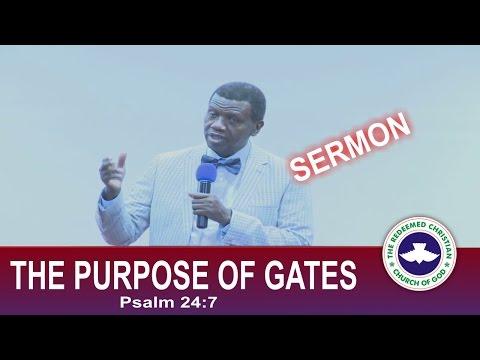 Pastor E.A Adeboye Sermon_ THE PURPOSE OF GATES