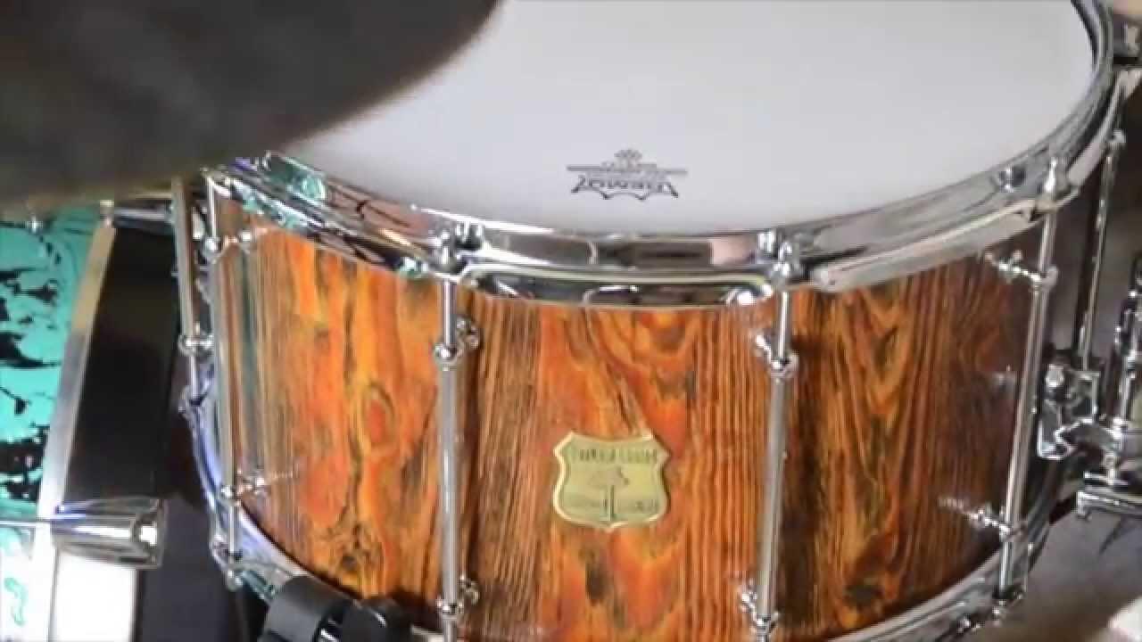 heartpine 14x8 custom snare drum youtube. Black Bedroom Furniture Sets. Home Design Ideas