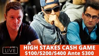 HIGH STAKES $100,000 Buy In CASH GAME - $100/$200/$400 NLH with Antonio Esfandiari, Sam Trickett...