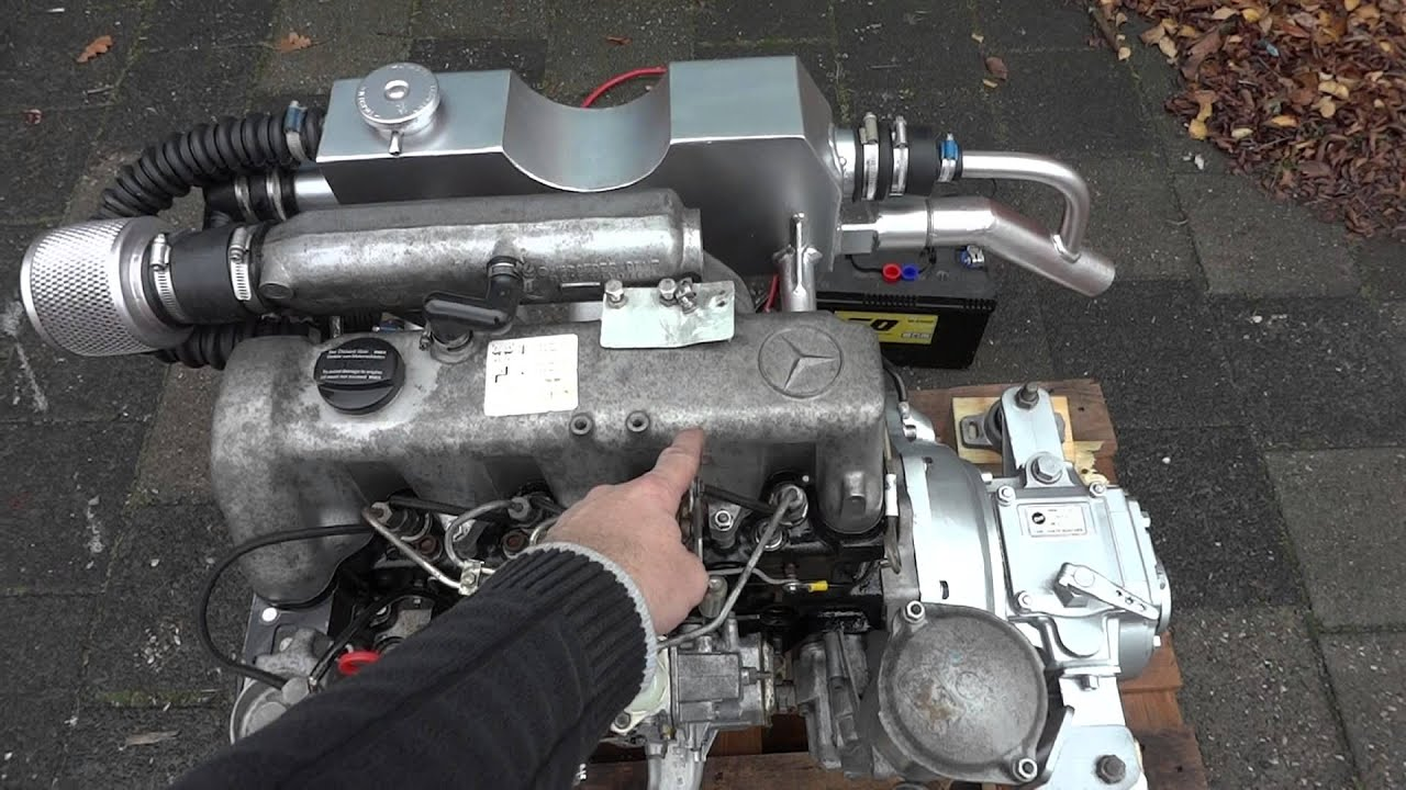 Mercedes om615 marine diesel youtube for Mercedes benz diesel engines for sale