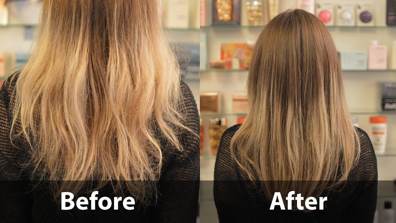 How To Repair Damaged Hair My Olaplex Treatment Youtube