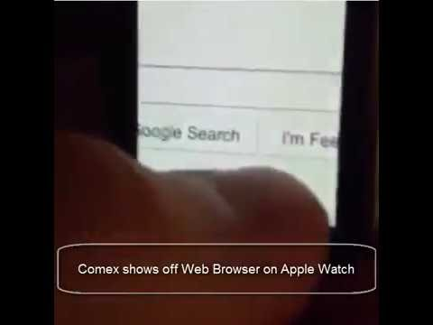 comex shows off web browser on apple watch