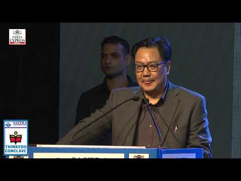 ThinkEDU 2020 -Within and Without, Kiren Rijiju, Minister of State of Youth Affairs and Sports