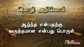Mozhi Arivom (13/06/2016) | Puthiyathalaimurai TV