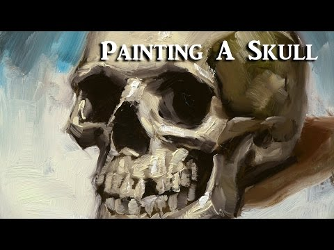 Painting a Skull in Oil Paints