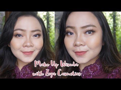 Make Up Wisuda One Brand Tutorial With Zoya Cosmetic Tiaranab