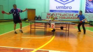 Настольный теннис Чемпионат РК среди ветеранов 2015 в городе Актау