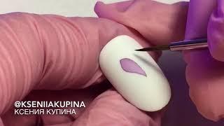 Прозрачные цветы, акварельный дизайн ногтей | Watercolor nail desing