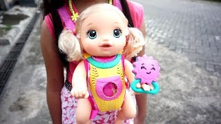 Mainan Anak Boneka Bayi Lucu Baby Alive 💖 Bisa di Gendong diajak Jalan Jalan 💖 Let's Play Jessica
