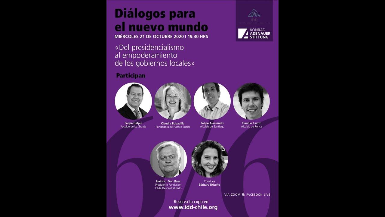 Ciclo IDD/KAS Diálogos para un nuevo mundo:  Empoderamiento de los gobiernos locales