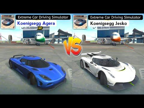 Extreme Car Driving Simulator 2021 – Koenigsegg Agera vs Koenigsegg Jesko. Who Will Win?