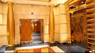 Burj al Arab Dubai :Everything is Gold ! The Elevators at the Burj al Arab Dubai ( HD Quality .mov