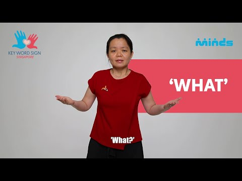 Key Word Sign (Singapore) - Let's Learn Together! #38 - 'What'