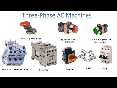 3 phase push button switch | 3 phase ac machines | earth bondhon - youtube