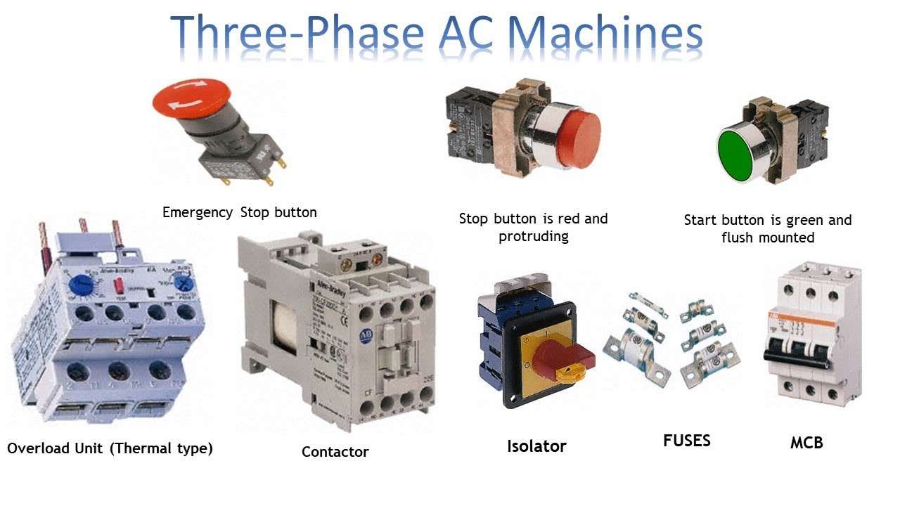 3 phase push button switch | 3 Phase AC Machines | Earth