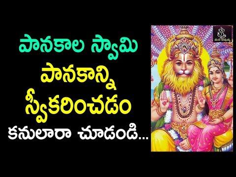 .పానకాల స్వామి పానకాన్ని స్వీకరించడం చూడండి!   Story Behind  Panakala Swamy DRINKING his PRASAD