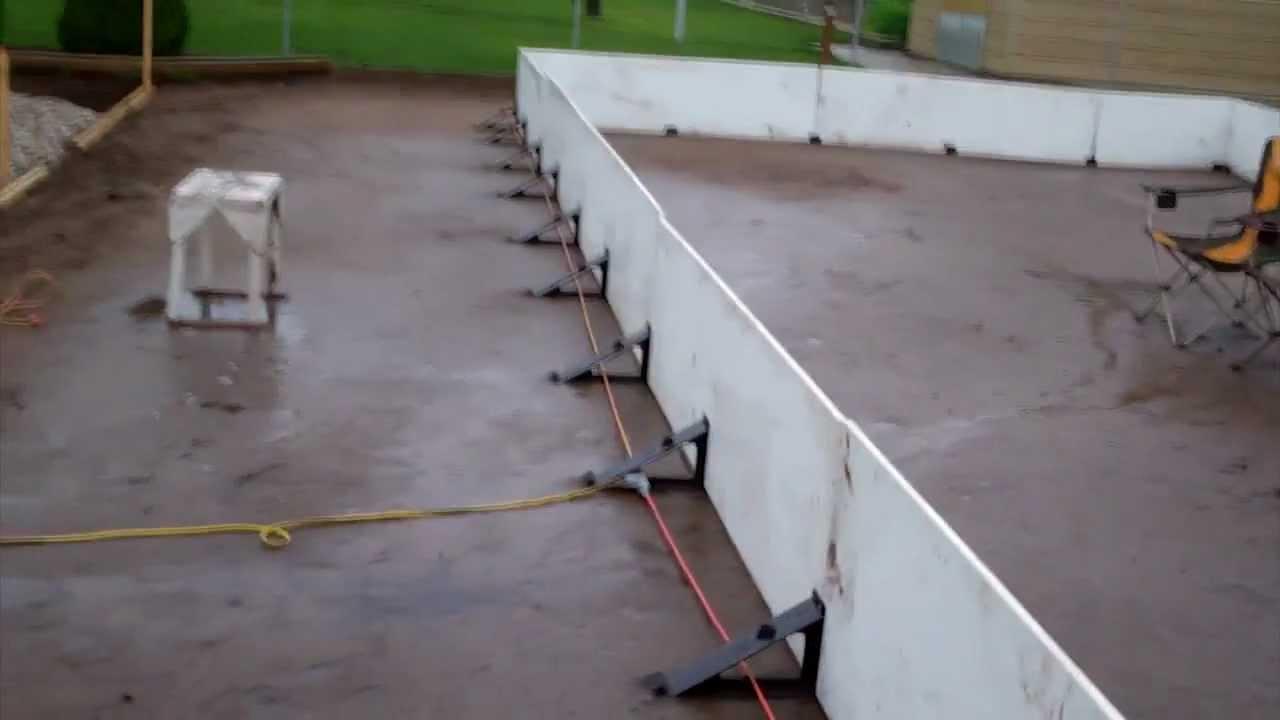 hockey rink 2011 2012 brackets boards lights youtube