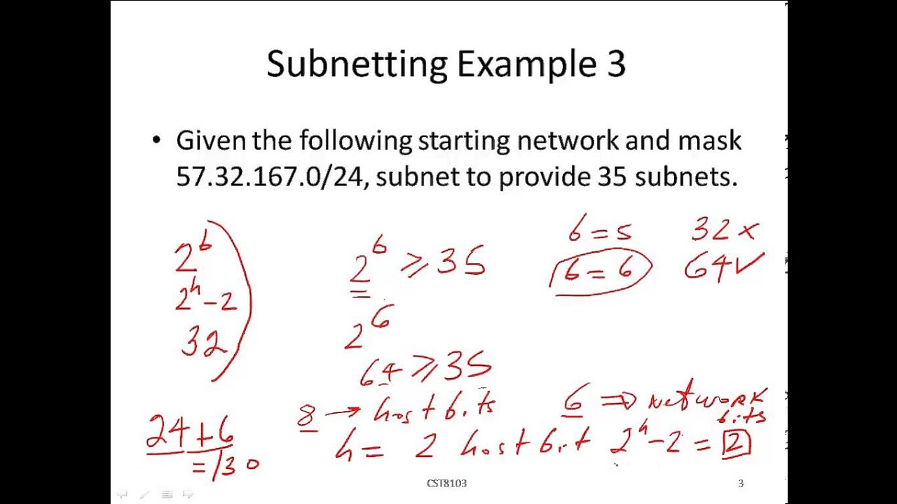 Subnetting by Example - 3 - Calculate the Network ID for specified ...