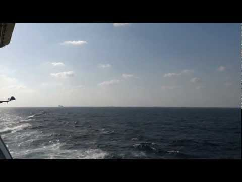 Gulf of Aden - Sailing in a ship convoy onboard the Serenade of the Seas HD (2013)