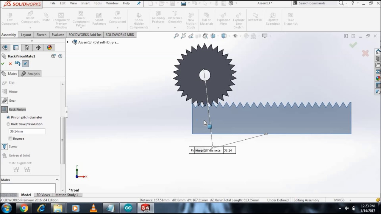 Rack And Pinion Solidworks 2017 Mechanical Engineering