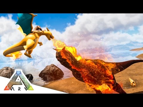 CHARIZARD vs ALPHA CARNO! - ARK SURVIVAL EVOLVED POKEMON MOD #11