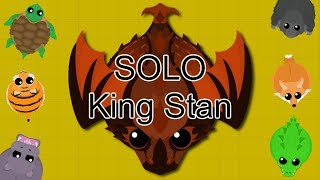 SOLO KING STAN GAMEPLAY!! // FINALLY GETTING KING STAN! // MOPE.IO