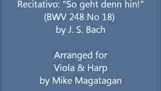 "Recitativo: ""So geht denn hin!"" (BWV 248 No 18) for Viola & Harp"