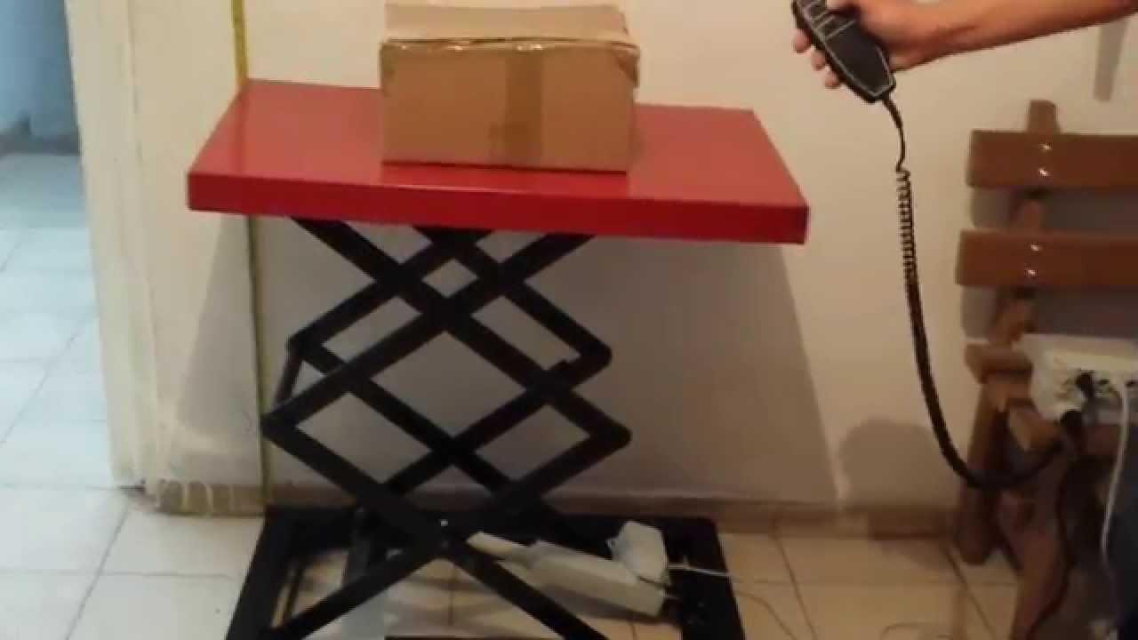 Mesa de Tijera con Actuador Lineal o Pistn Electrico