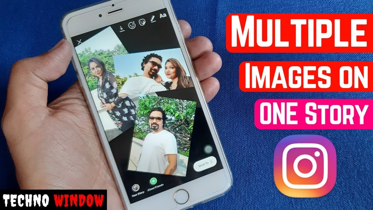Add More than one Photo on ONE Instagram Story | Multiple Images on ONE Instagram Story