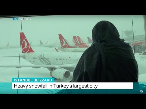 Istanbul Blizzard: Heavy snowfall in Turkey's largest city