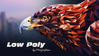 Low Poly eagle. Рисуем орла в стиле low poly. Уроки Adobe Illustrator(, 2016-05-16T14:41:57.000Z)