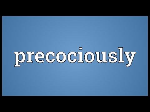 Header of precociously