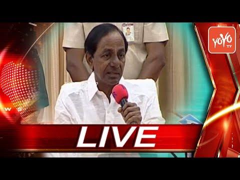 CM KCR LIVE | Press Meet at Pragathi Bhavan | Hyderabad Telangana | YOYO TV Channel