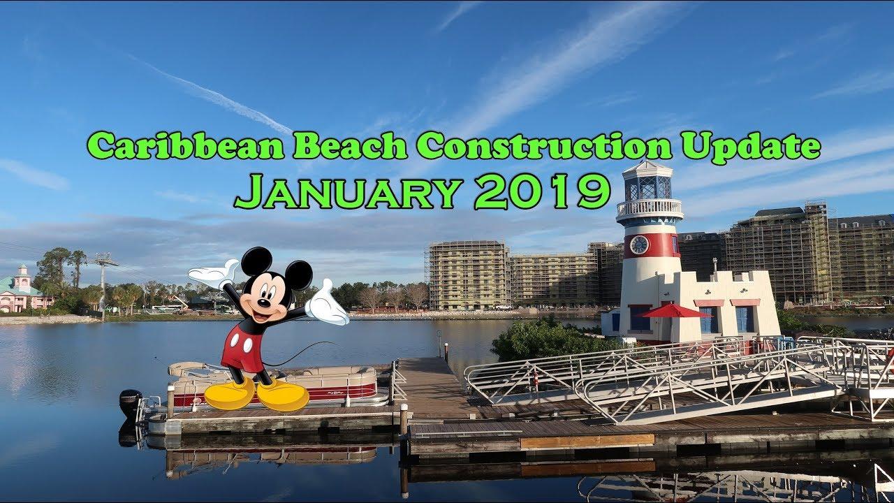 Disney's Caribbean Beach Resort January 2019 Update