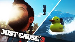 JUST CAUSE 3 BIG HEAD & RUBBER DUCK BOAT! :: Just Cause 3 Funny Moments!