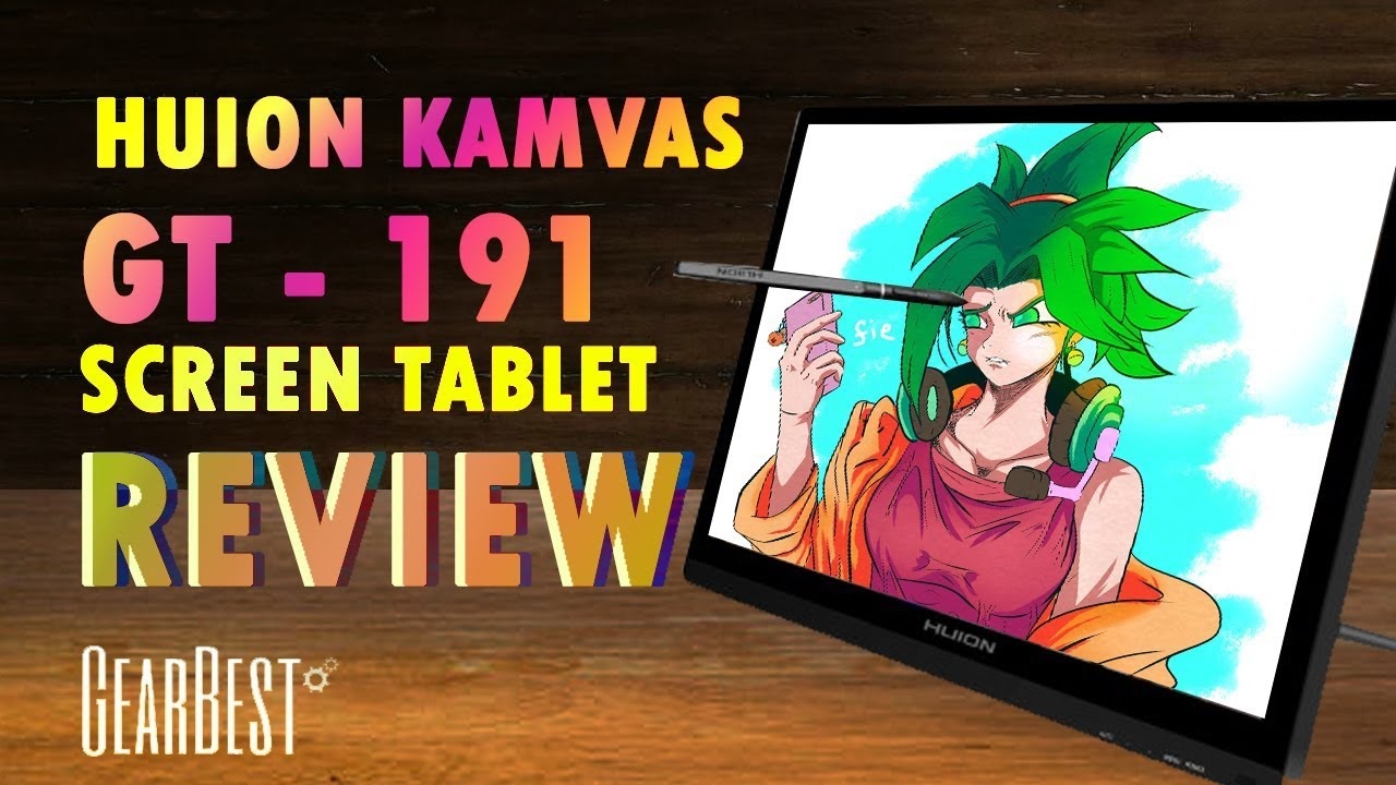 Drawing Kefla : Huion Kamvas GT-191 drawing tablet Review (Gearbest)