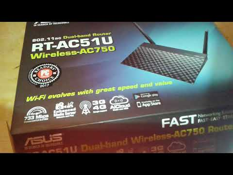 Asus RT-AC51U роутер огляд / unboxing Wi-Fi 5GHz 802.11ac router RT-AC750