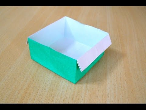 ศิลปะการพับกระดาษ กล่อง