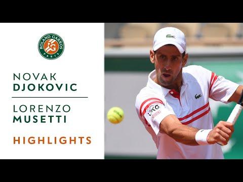 Novak Djokovic vs Lorenzo Musetti - Round 4 Highlights I Roland-Garros 2021