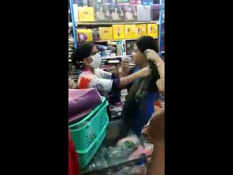Women Gets Caught Stealing And Fights With Staff In Mall